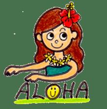 Happy Aloha ! Hawaii sticker #7161162