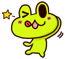 SMILE the frog 2 sticker #7168300