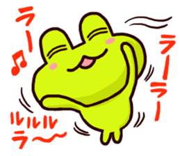 SMILE the frog 2 sticker #7168304