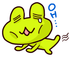 SMILE the frog 2 sticker #7168308