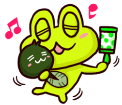 SMILE the frog 2 sticker #7168324