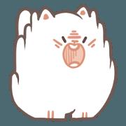 สติ๊กเกอร์ไลน์ Fluffy Cats (Angry ver.)