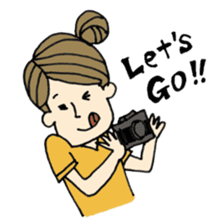Let's go out with a camera sticker #7175104
