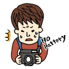 Let's go out with a camera sticker #7175121