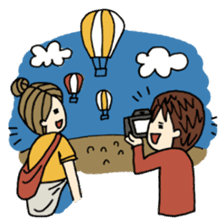 Let's go out with a camera sticker #7175136
