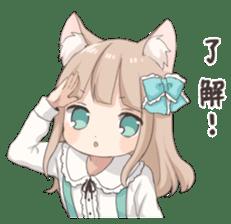 Coco of wolf ear girl sticker #7179184