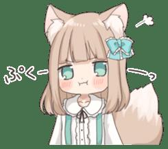 Coco of wolf ear girl sticker #7179194