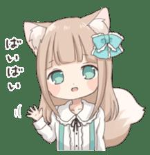 Coco of wolf ear girl sticker #7179197