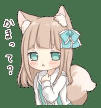 Coco of wolf ear girl sticker #7179199