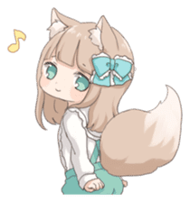 Coco of wolf ear girl sticker #7179202
