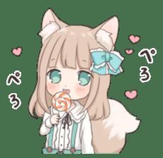 Coco of wolf ear girl sticker #7179206
