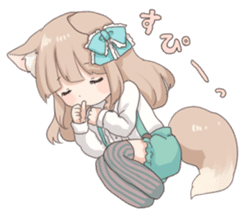 Coco of wolf ear girl sticker #7179211