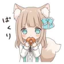 Coco of wolf ear girl sticker #7179212