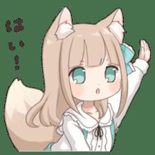 Coco of wolf ear girl sticker #7179214