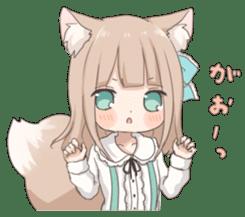 Coco of wolf ear girl sticker #7179215