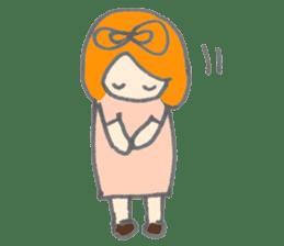 Cute girl with Orange hair sticker #7197029