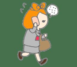 Cute girl with Orange hair sticker #7197036