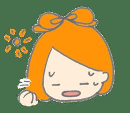 Cute girl with Orange hair sticker #7197045