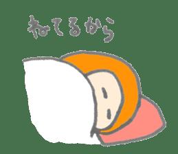 Cute girl with Orange hair sticker #7197047
