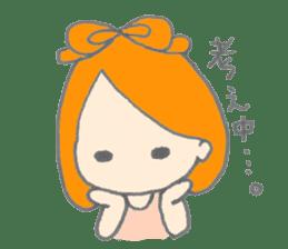Cute girl with Orange hair sticker #7197049