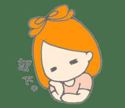 Cute girl with Orange hair sticker #7197052
