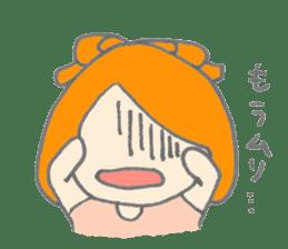 Cute girl with Orange hair sticker #7197053
