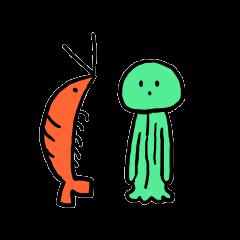 Shrimp and cosmos