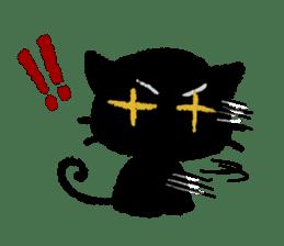 Ugly Black Cat sticker #7203536