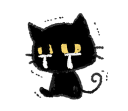 Ugly Black Cat sticker #7203543