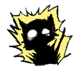 Ugly Black Cat sticker #7203552