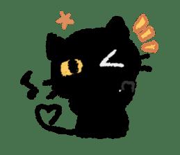 Ugly Black Cat sticker #7203556