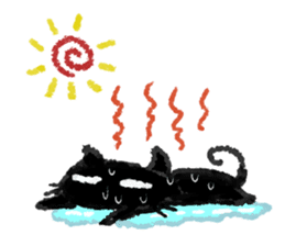 Ugly Black Cat sticker #7203564