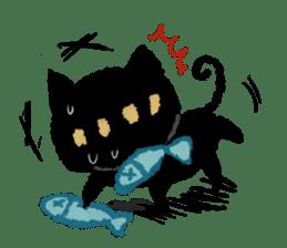 Ugly Black Cat sticker #7203566
