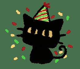 Ugly Black Cat sticker #7203571