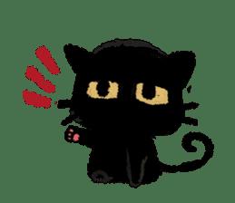 Ugly Black Cat sticker #7203574