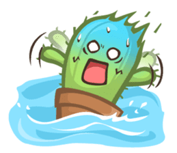 Mini Cactus - little Mi sticker #7204377