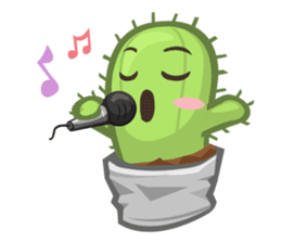 Mini Cactus - little Mi sticker #7204390
