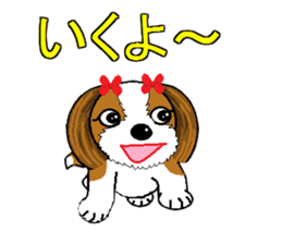 I Love  cute Shih Tzu sticker #7211489