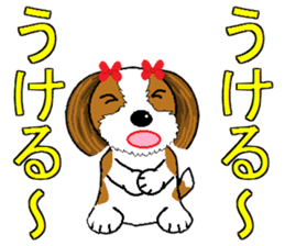 I Love  cute Shih Tzu sticker #7211491