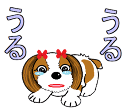 I Love  cute Shih Tzu sticker #7211492