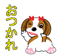 I Love  cute Shih Tzu sticker #7211494