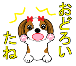 I Love  cute Shih Tzu sticker #7211495