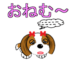 I Love  cute Shih Tzu sticker #7211496