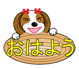 I Love  cute Shih Tzu sticker #7211497
