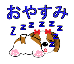 I Love  cute Shih Tzu sticker #7211500