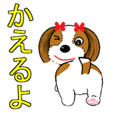 I Love  cute Shih Tzu sticker #7211501