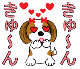 I Love  cute Shih Tzu sticker #7211503