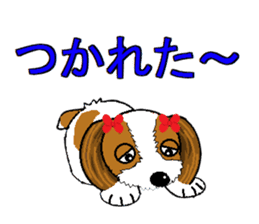 I Love  cute Shih Tzu sticker #7211511