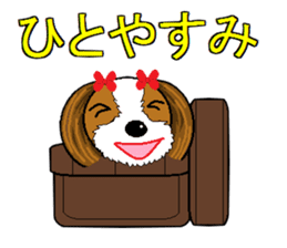I Love  cute Shih Tzu sticker #7211515