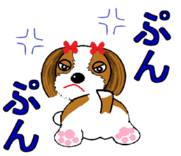 I Love  cute Shih Tzu sticker #7211516